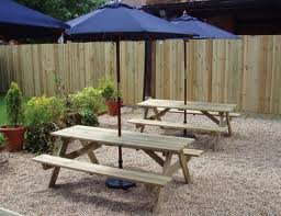 Furniture in pub garden