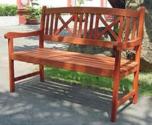 Wooden bench for the garden