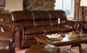 Leather Itallian lounge suite
