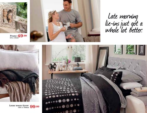 Bedding from the Mr Price Home Catalogue brochure